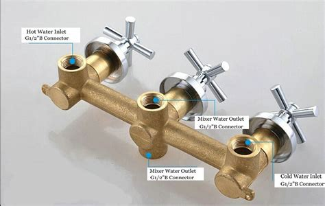 bathroom shower valve 3 handles 2 way bathroom shower valve in wall mixer valve