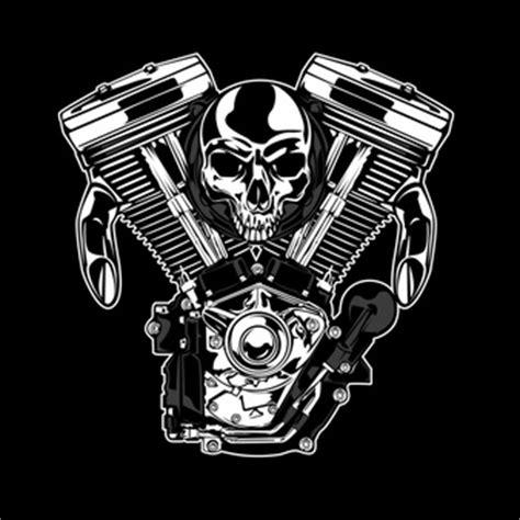Kaos Racing Skull 1 motor vectors photos and psd files free