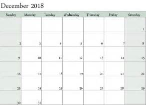 Calendar 2018 December December 2018 Calendar Www Imgkid The Image Kid