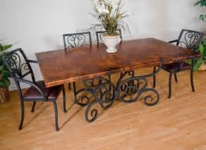Wrought Iron And Wood Dining Table Wooden Dining Table Wrought Iron Home Decor Report