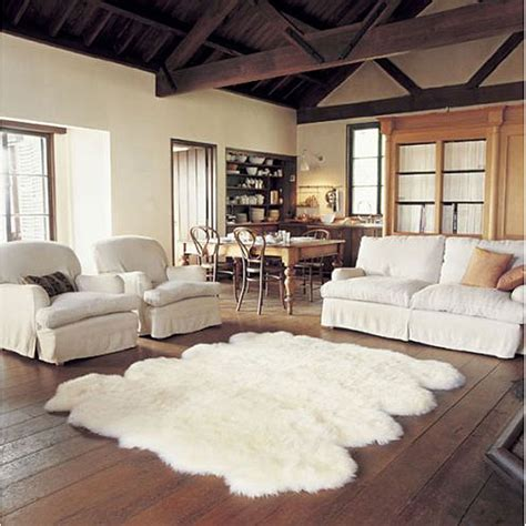 livingroom rug 10 cozy colorful soft sheepskin rugs interior design ideas