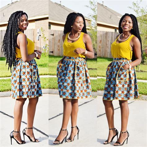 african attire skirt ankara skirt with details waistband african print
