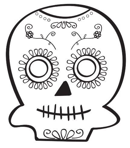 imagenes de halloween o dia de muertos dibujos de calaveras mexicanas para colorear en halloween