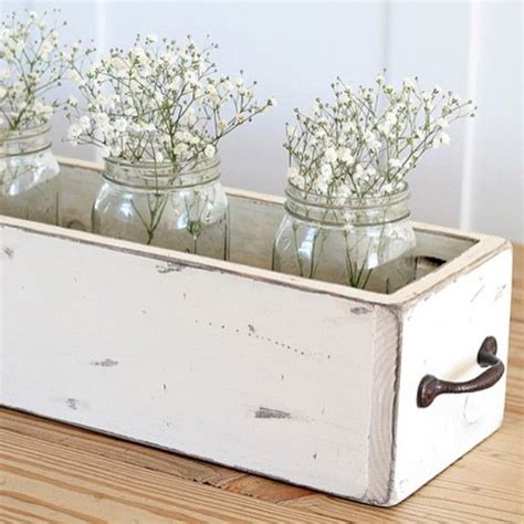 farmhouse kitchen table centerpiece diy wood box centerpiece farmhouse table centerpieces