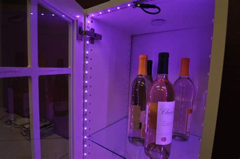 Inside Kitchen Cabinet Lighting Inspired Led Color Changing Rgb Inside Wine Cabinet Contemporary Wine Cellar By
