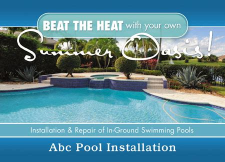 8 Brilliant Swimming Pool Service Direct Mail Postcard