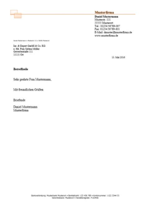 Gesch Ftlich Briefvorlage kostenlose word briefkopf vorlagen herunterladen