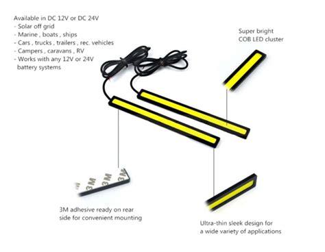 12 Volt Led Light Bar Waterproof Cob Led Bar For Vehicle Lighting Discount 2 Pack Free Shipping 12vmonster Lighting And