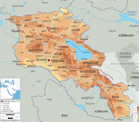 map of armenia world and forces armenia