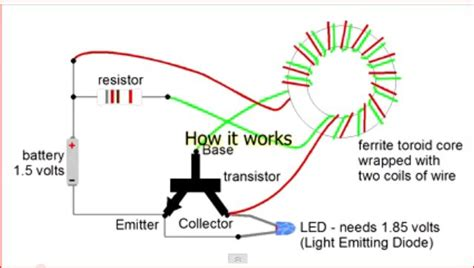 joules thief circuit diagram projects