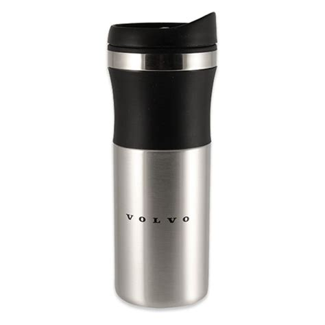 cmg stainless travel tumbler black lifestyle plastic genuine volvo accessory