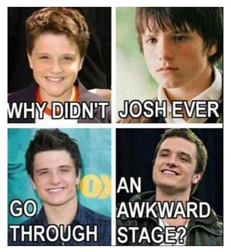 how for guys to avoid the awkward stage of growing hair out 928 best images about josh hutcherson on pinterest