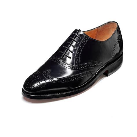 albert black hi shine leather lace up brogue shoe