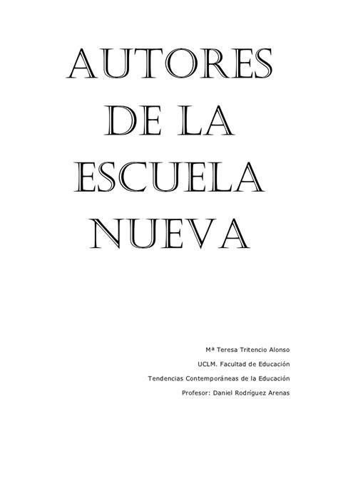 AUTORES DE LA ESCUELA NUEVA