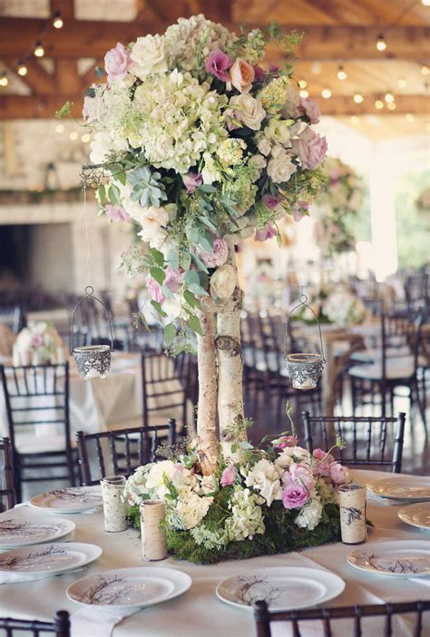 wedding centerpieces ideas not using flowers birch tree wedding ideas mon cheri bridals