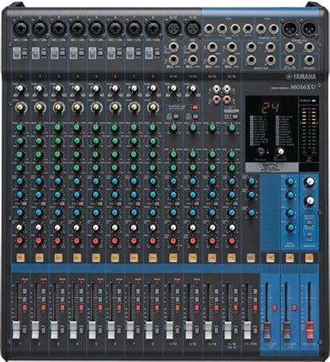Mixer Yamaha 16 Xu yamaha mg16xu 16 channel stereo usb mixer with effects
