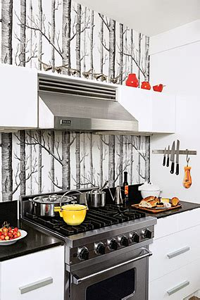 Wallpaper Kitchen Backsplash by Wallpaper Kitchen Backsplash Contemporary Kitchen