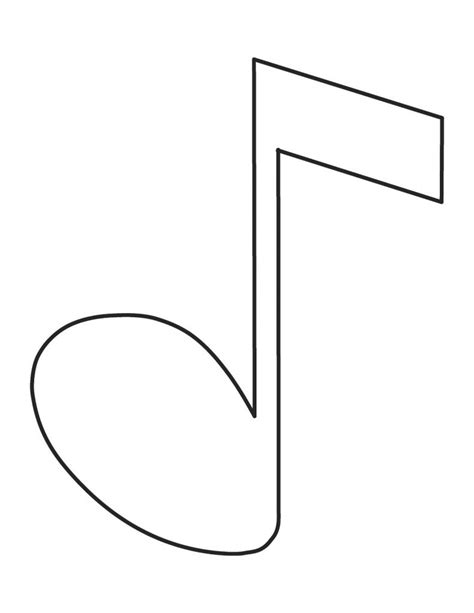 Note Coloring Pages free coloring pages of do musical notes
