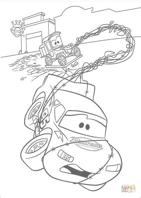 lightning mcqueen coloring pages games lightning mcqueen and lizzie coloring page free