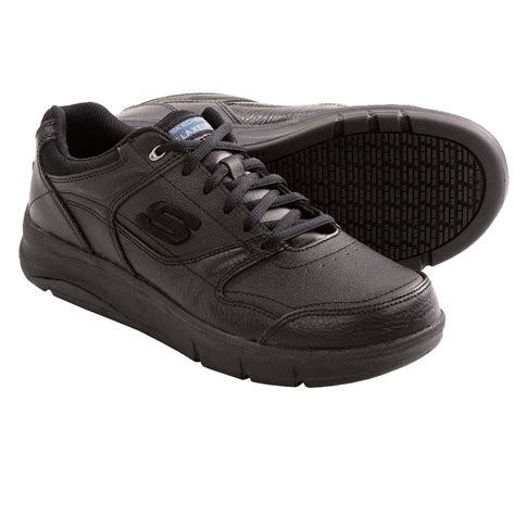 skechers jarvis work shoes relaxed fit slip resistant