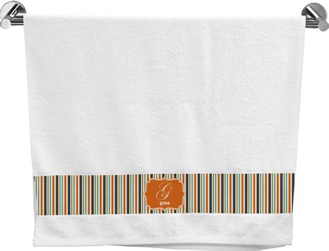 blue and orange bathroom orange blue stripes bath towel personalized potty training concepts