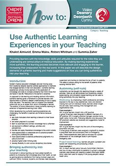 Study My Experience With Guides by How To Use Authentic Learning Experiences In Your Teaching