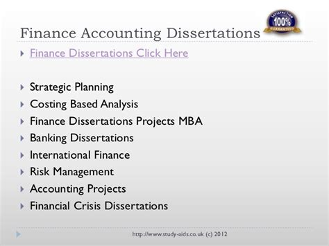 Mba Finance Dissertation Project by Dissertations Essays