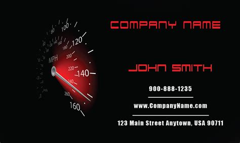 Mechanic Business Cards Templates Free by Auto Mechanic Business Card Design 501101