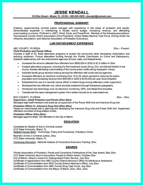 Cover Letter For Probation Officer Position by Cover Letter Exles Probation Officer Position