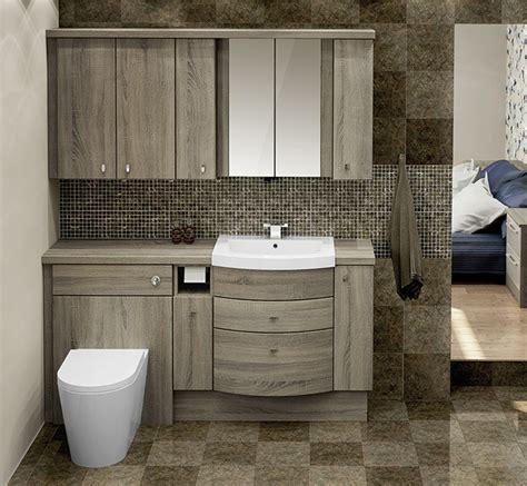 fitted bathroom furniture bardolino oak fitted bathroom furniture mallard