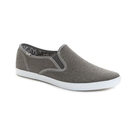 keds slip on sneakers keds chion heavy weave slip on sneakers in gray for