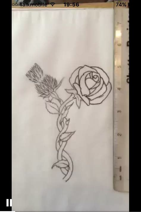 rose and thistle tattoo designs 49 best favorite images on canvases