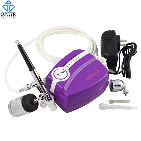 Mini Compressor Airbrush Set ophir dual airbrush kit with portable mini air compressor for model hobby painting