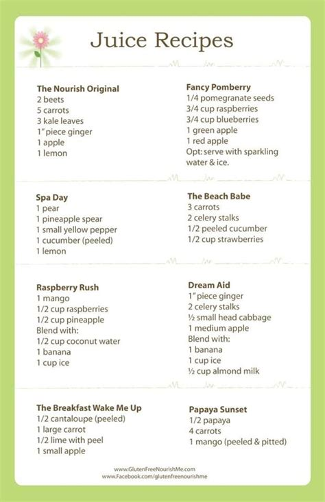 A List Of Detox Drinks by Juice Recipes