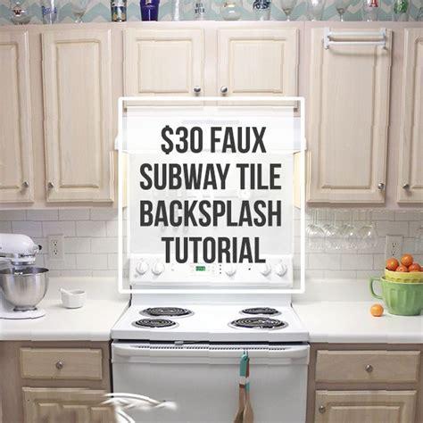 $30 Faux Subway Tile Backsplash DIY   Hometalk