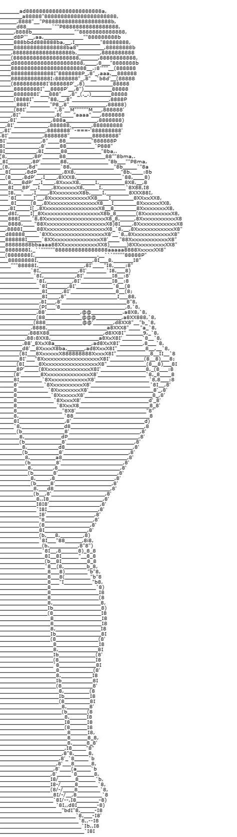 imagenes formadas por letras y simbolos ejemplos de dibujos y figuras del arte ascii para usar en