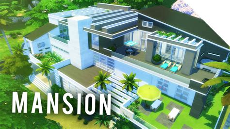 Modern Home Design Floor Plans by The Sims 4 Speedbuild Mega Modern Mansion 01 Youtube
