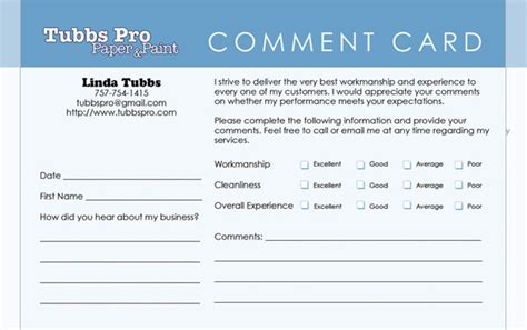 comment card template word templates for comment cards search engine at