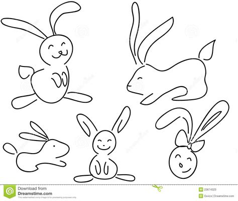 doodle creatures how to create rabbit doodle rabbits stock photos image 23674323