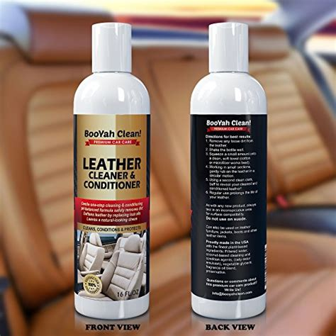 Best Leather Cleaner For Couches by Booyah Clean Leather Cleaner Conditioner For Car