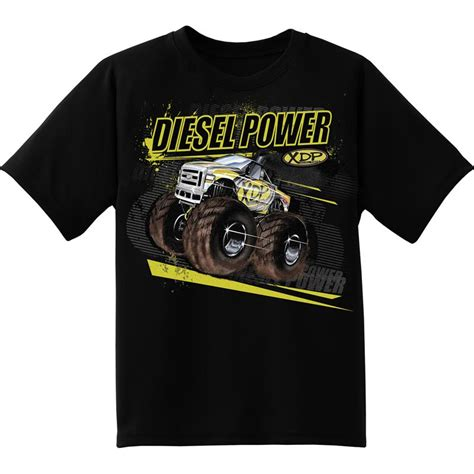 xdp diesel powered truck t shirt youth