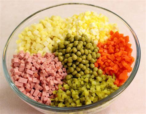 Egg Main Dishes - salad olivier