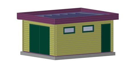 garage bois toit plat garage en bois sans permis de construire