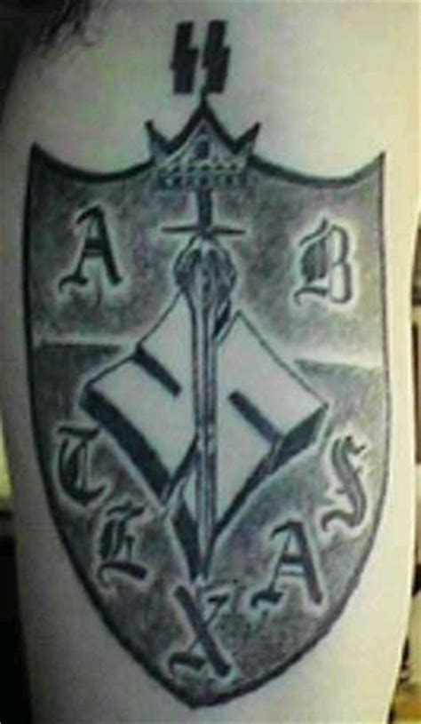 aryan nation tattoos white prison gangs aryan brotherhood of