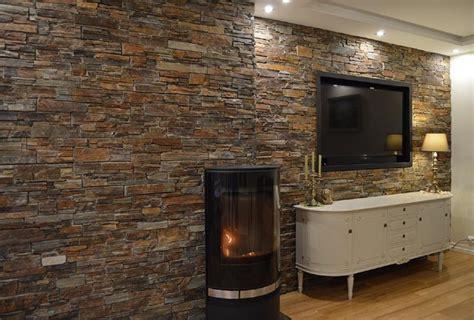 Stein Wandverkleidung Wohnzimmer wandverkleidung holz und stein bvrao
