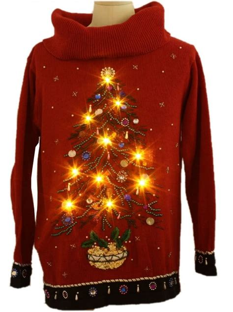 christmas sweater with lights holiday themed manicures cute or tacky weddingbee