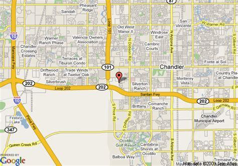 chandler arizona united states map map of oakwood villa pallavicini chandler