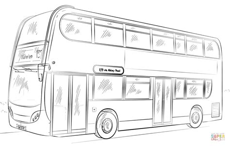 double decker bus coloring page free printable coloring