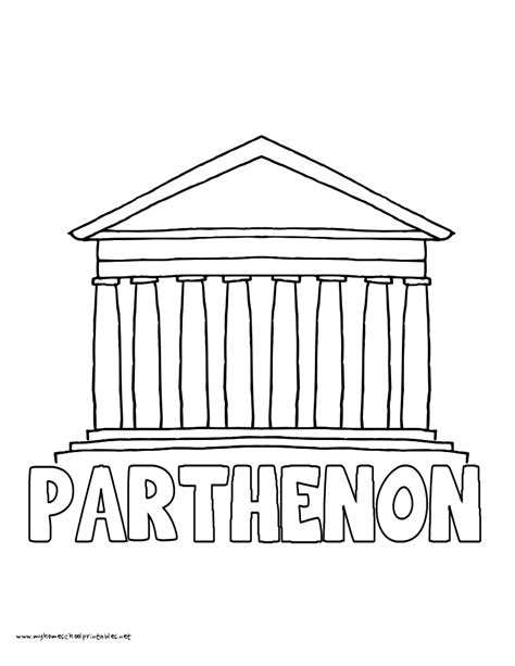 ancient parthenon coloring page coloring coloring pages