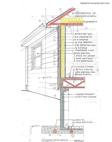 wood frame wall section typical residential wall section wood frame template